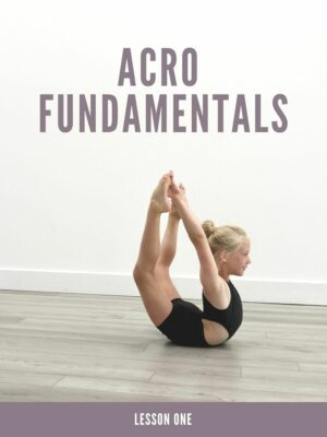 Acro Fundamentals Lesson Plans